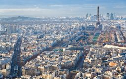 above view on Paris